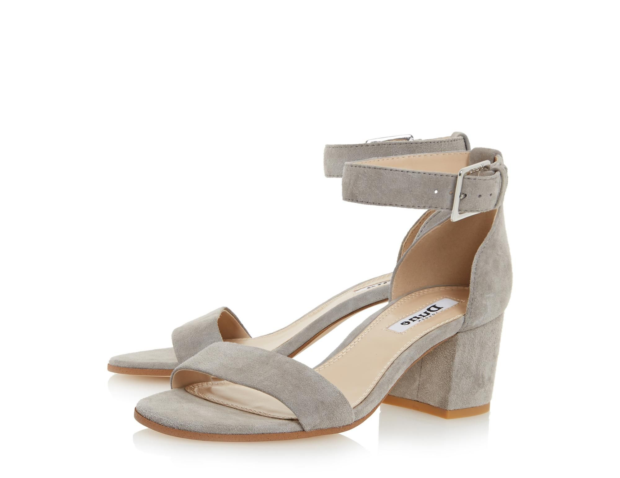 0b835102bb91 DUNE LADIES JAYGO - Two Part Block Heel Sandal - grey