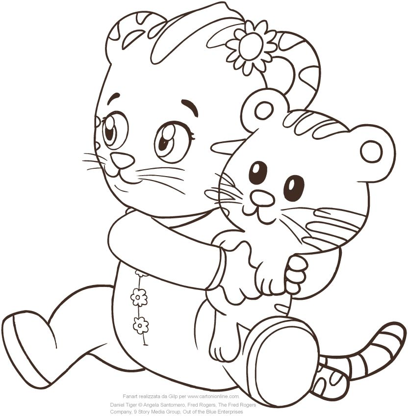 image regarding Daniel Tiger Coloring Pages Printable called Child Margaret the sister of Daniel Tiger coloring site in direction of