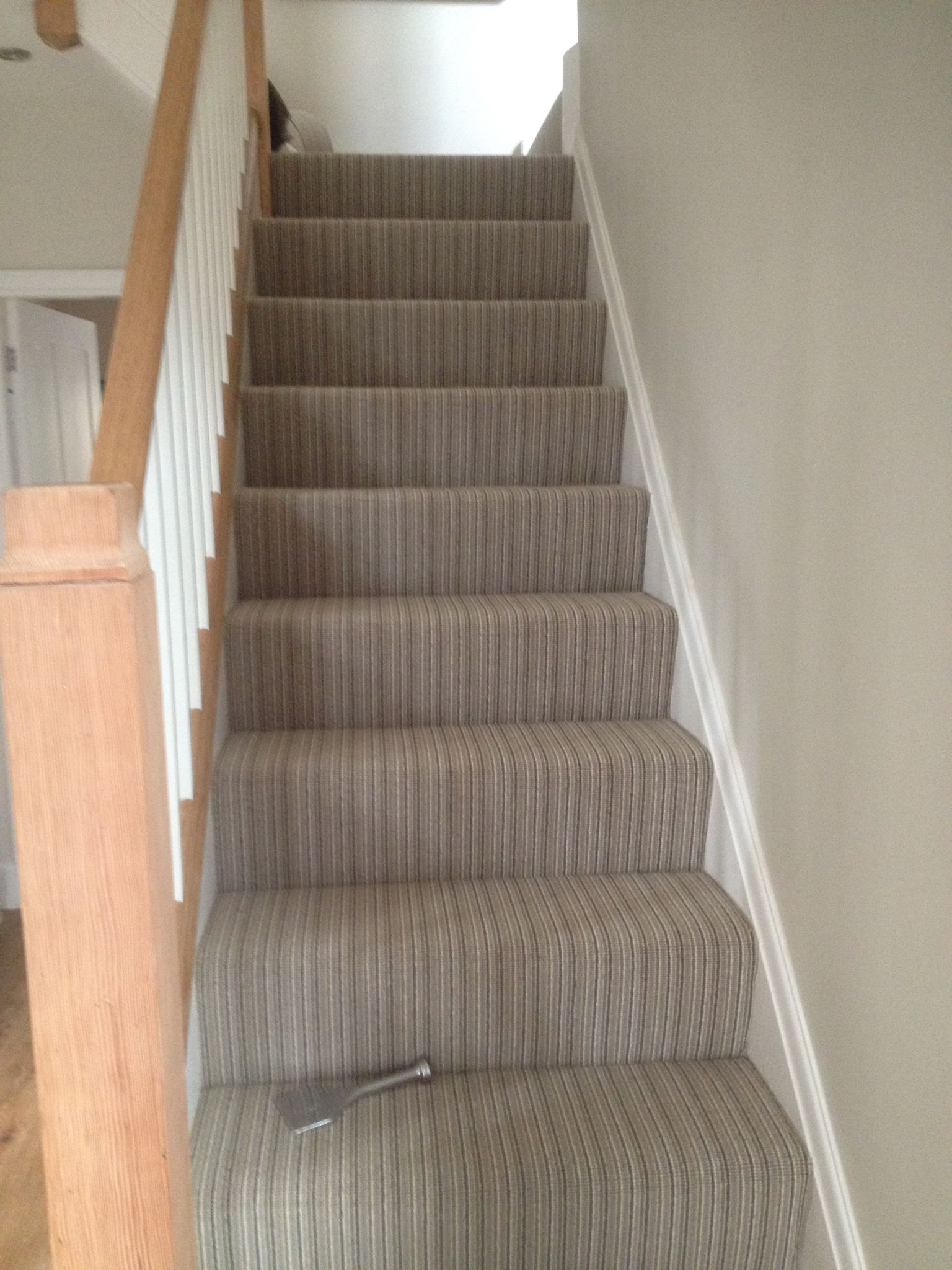 Ulster Carpets Wellington Stripe Carpet Stairs Hallway