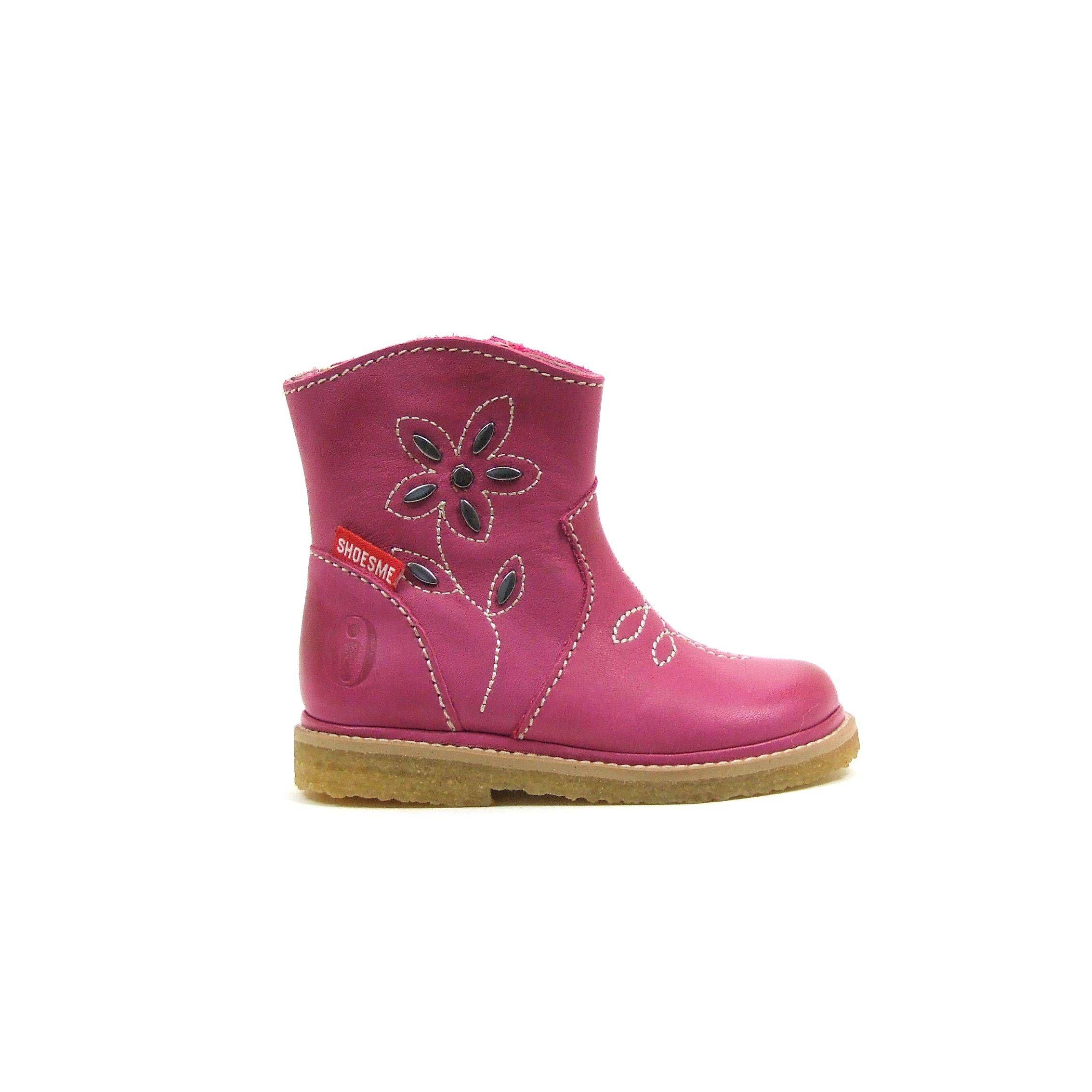 51c7480021d Kleurige roze laarsjes van Shoesme! Deze meiden laarzen hebben op de wreef  een fantasie stiksel