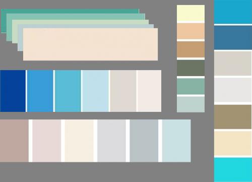 beach themed bathroom decor color scheme | Mosaic Tile | Pinterest ...