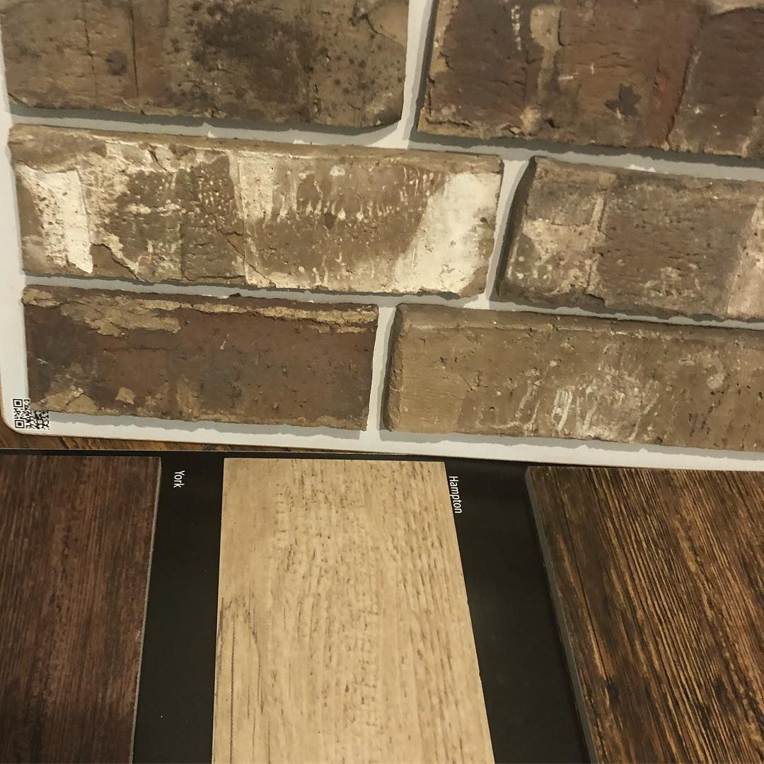 Stephanie Wilson Thewilsonfarmhouse Instagram Photos And Videos Wood Look Tile Brick Fireplace Emser Tile