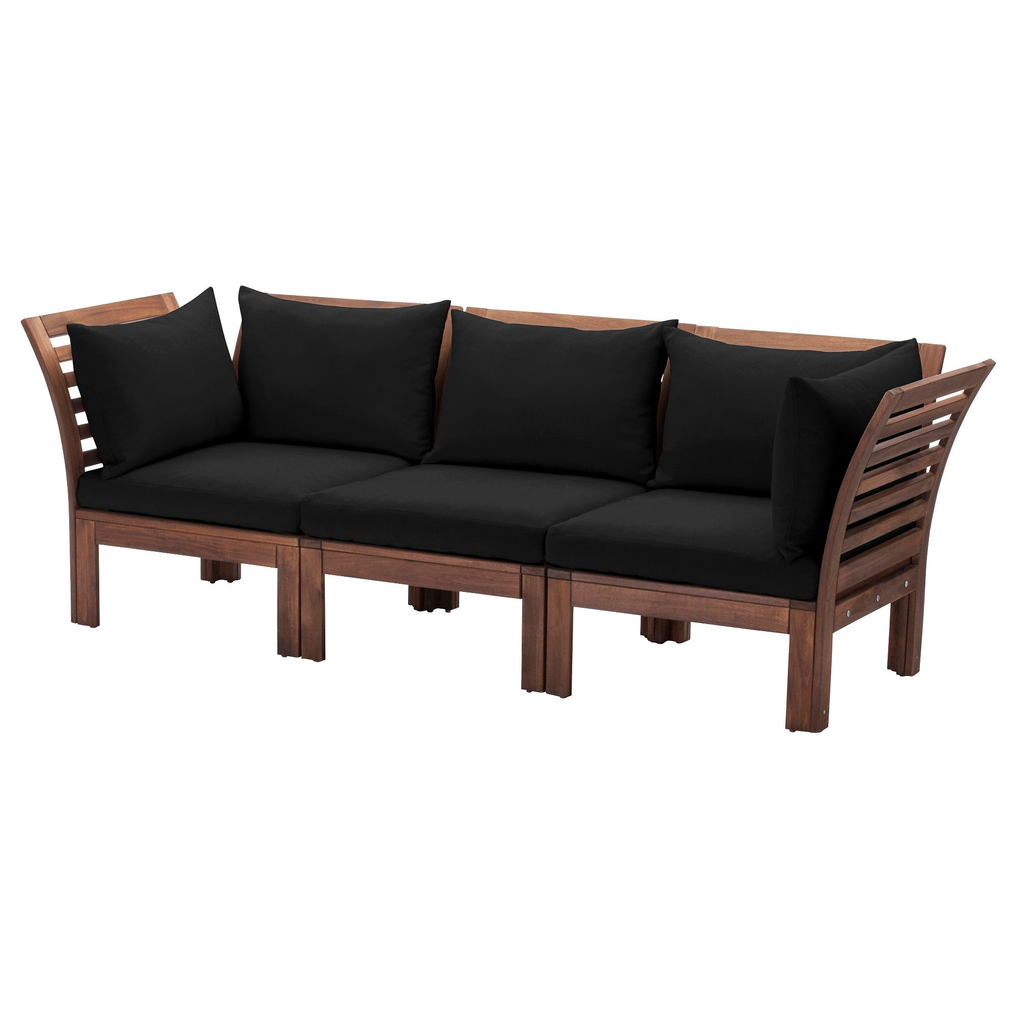 IKEA   ÄPPLARÖ, Sofa, Outdoor, Brown Stained/Hållö Black , By Combining  Different Seating Sections You Can Create A Sofa In A Shape And Size That  Perfectly ...