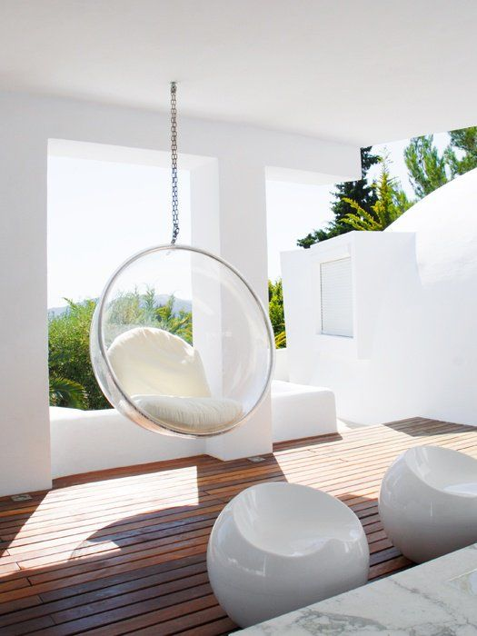 32 Interior Designs With Hanging Bubble Chair   MessageNote