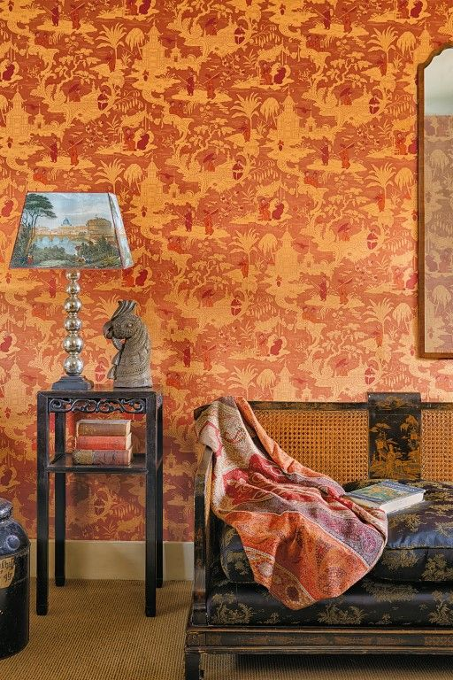 Amara com cole son archive anthology chinese toile 100 8041 2 · orange wallpapertoile