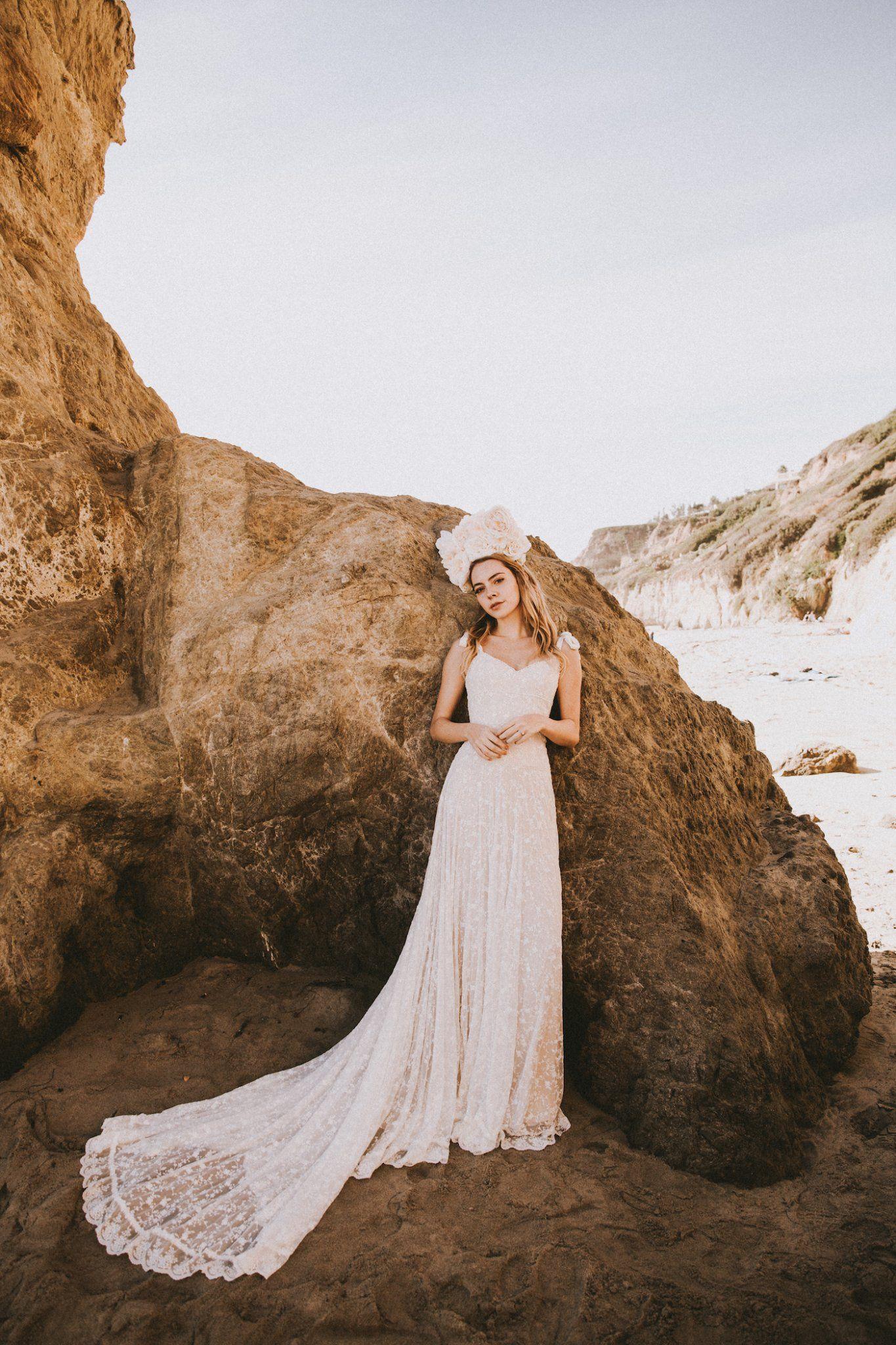 Lace wedding dress low back  Evangeline Lace Wedding Dress  wedding dress  Pinterest  Simple