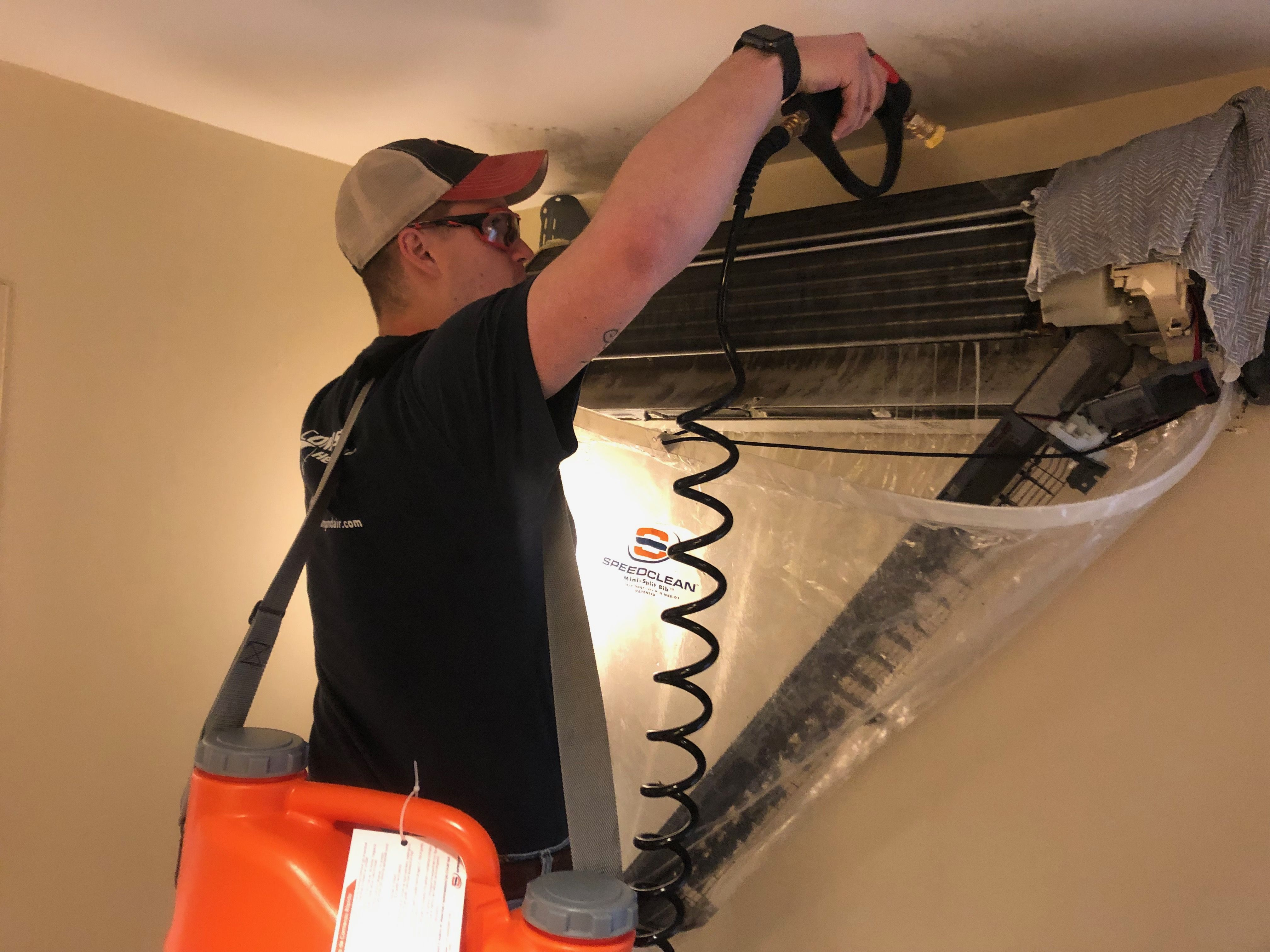 Cleaning a Mitsubishi ductless indoor coil after many