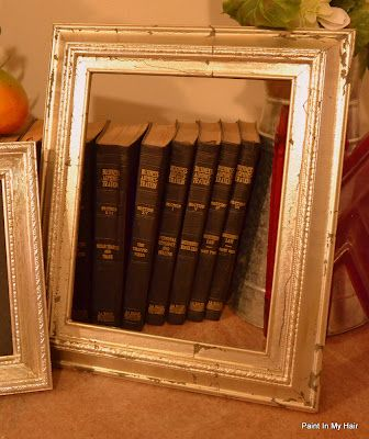 gilded picture frame tutorial