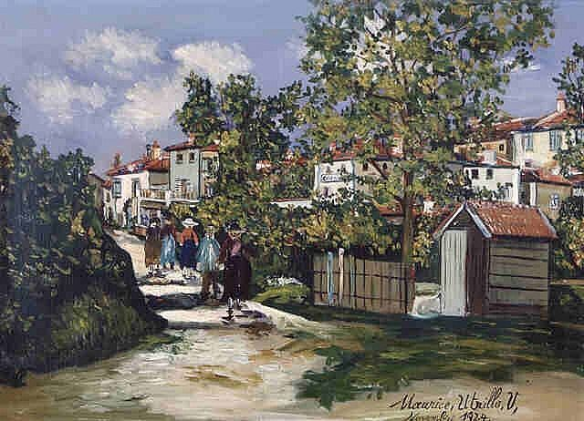 utrillo paintings | ... Bernard by Maurice Utrillo , is currently for sale at Soufer Gallery