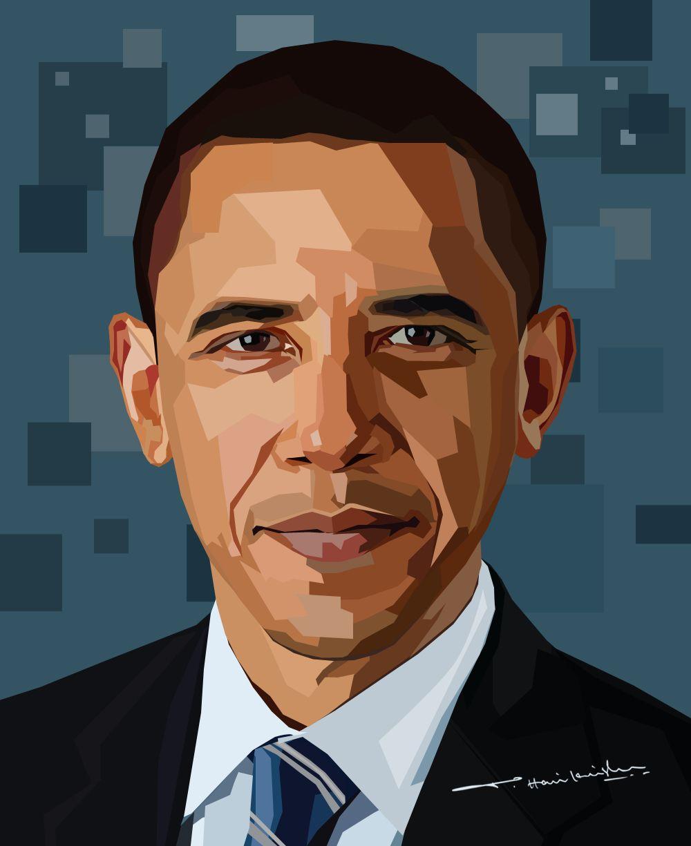 My Art Work Barack Obama Obama Art Pop Art Portraits Wpap Art