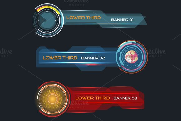 Futuristic Lower Third Banners Lower Thirds Futuristic Lower