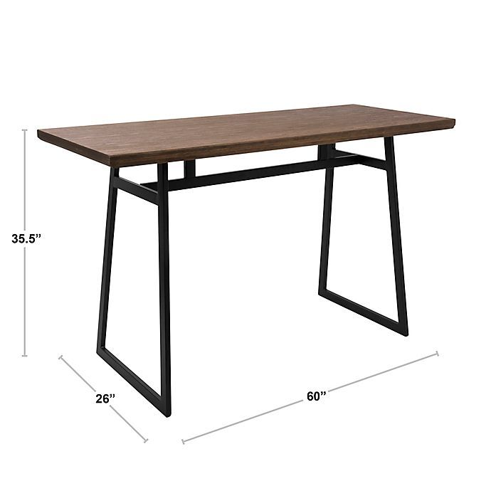 Lumisource Geo Counter Table In Brown Black Bed Bath Beyond Farmhouse Console Modern Dining