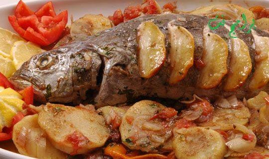 البيت السعيد طريقة عمل صنية سمك بالبطاطس فى الفرن Food Arabic Food Pork