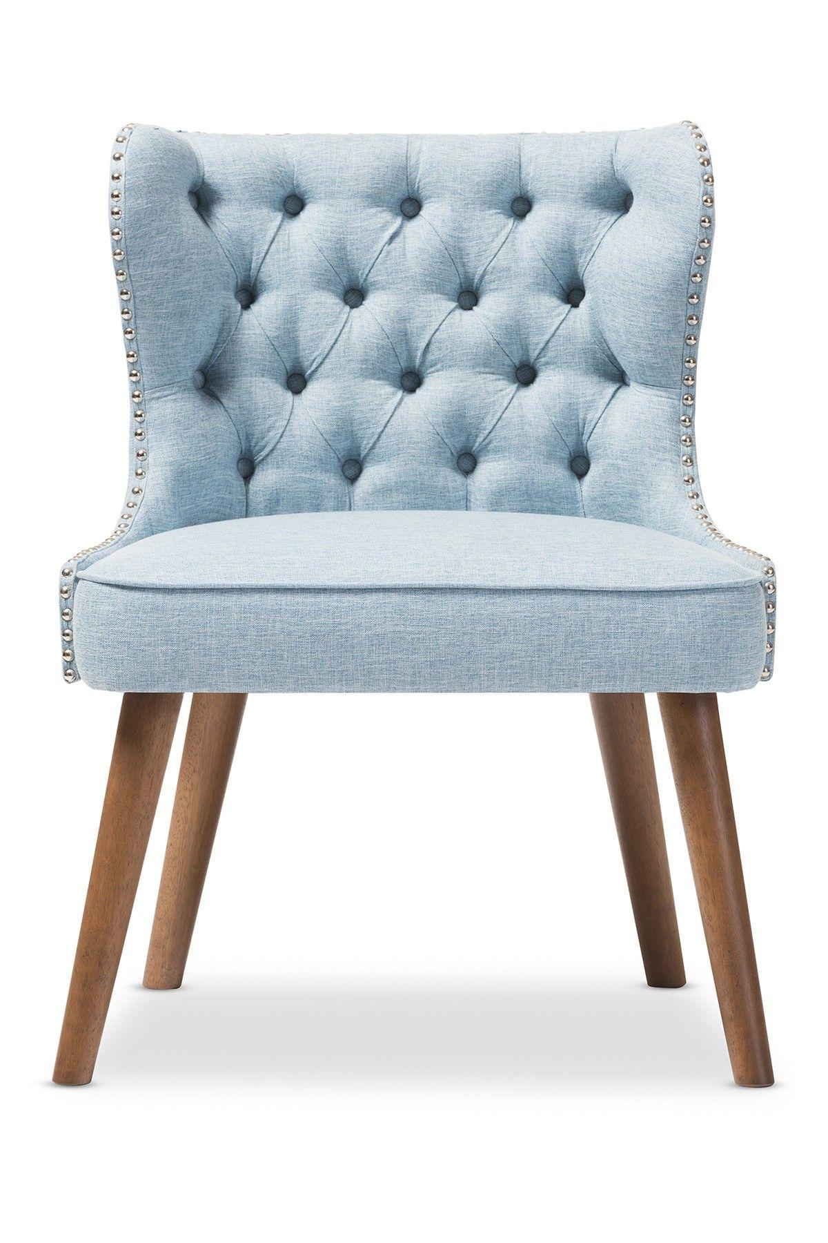 Loveseat Wingback Stud Chair