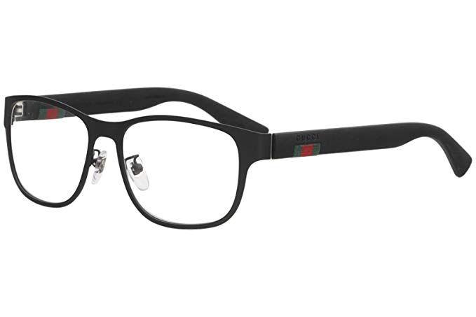 34db5ab0cf Gucci GG0176OA Plastic Rectangular Eyeglasses Size 56 mm Review ...