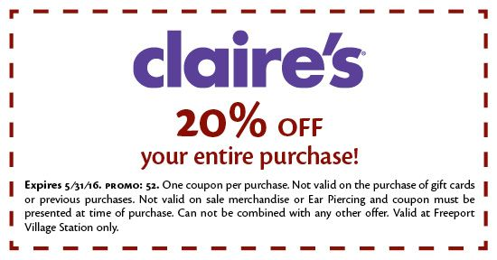 photograph regarding Claire's Printable Coupons named Pin di