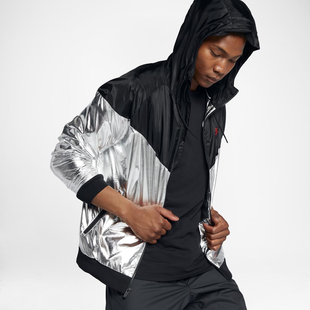 a71d6544a8 Nike Sportswear Windrunner Men s Woven Jacket Size Large (Silver ...