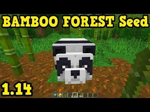 Minecraft 1 14 Bamboo Forest Seed Minecraft Seeds Minecraft