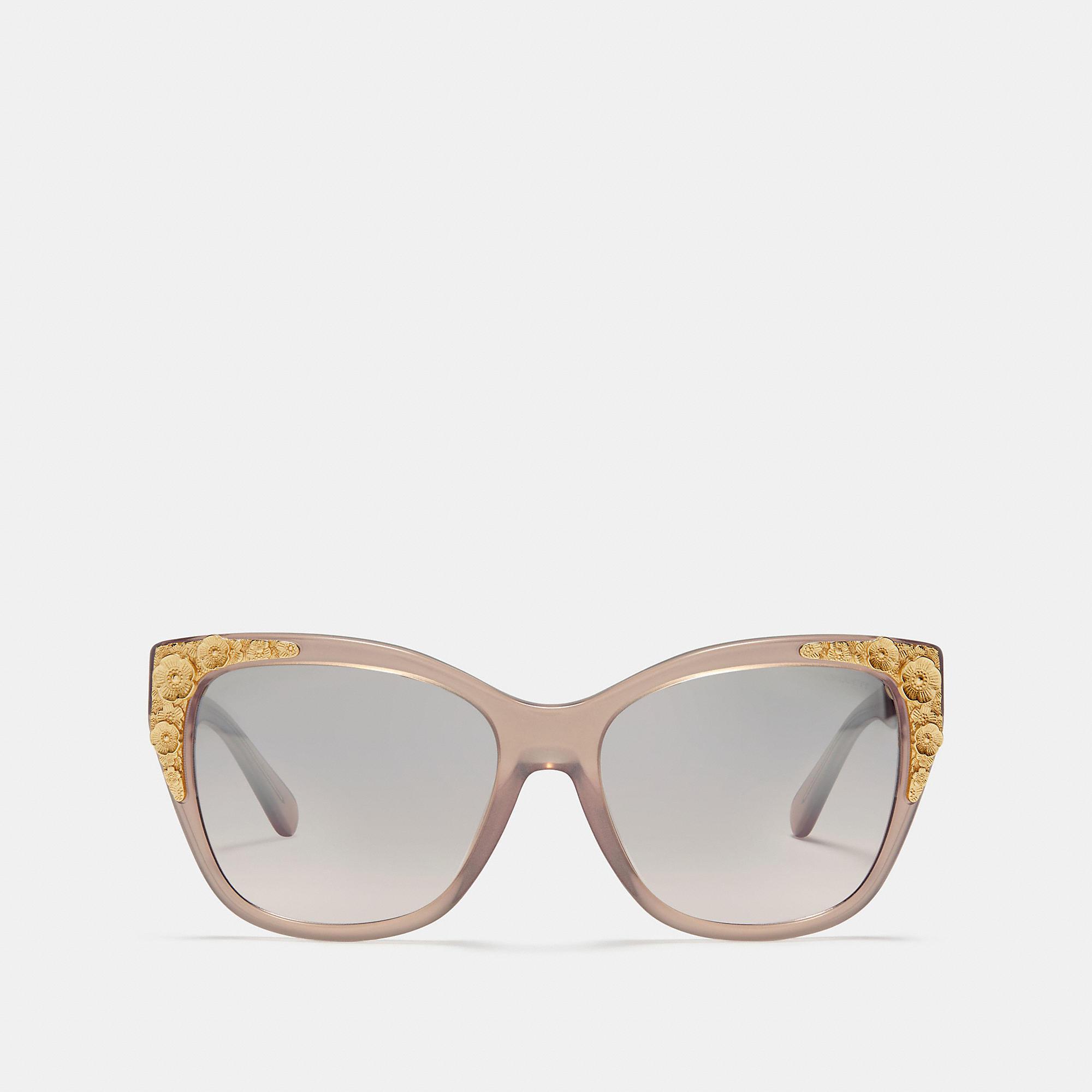 38e022048db COACH Metal Tea Rose Square Sunglasses - Women s Sunwear