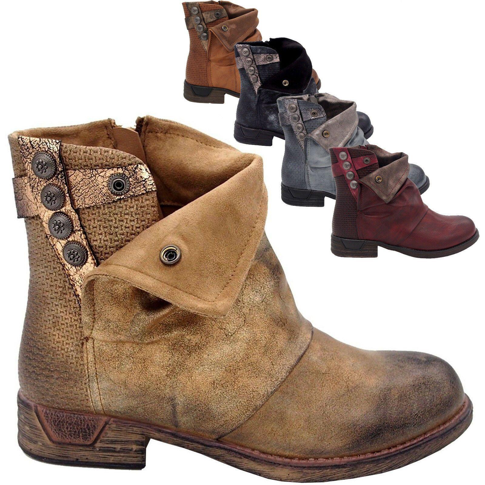 bottines femme cuir vintage