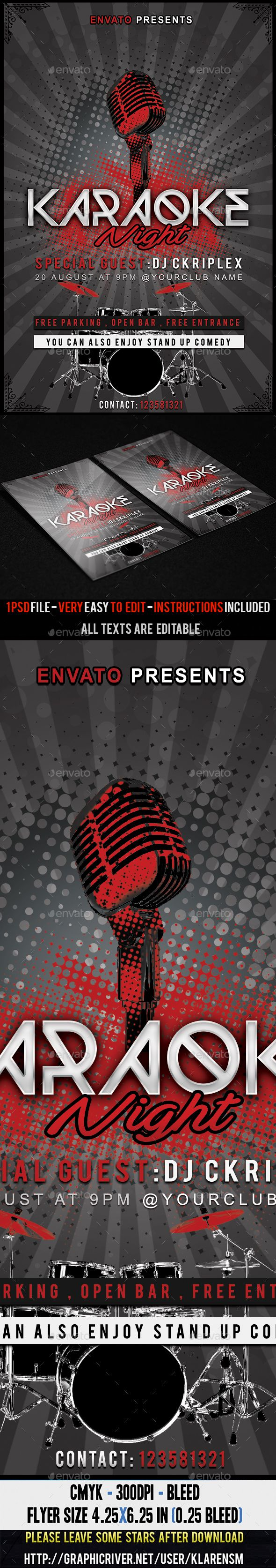Karaoke Night Flyer Template  Flyer Template Karaoke And Flyer Size