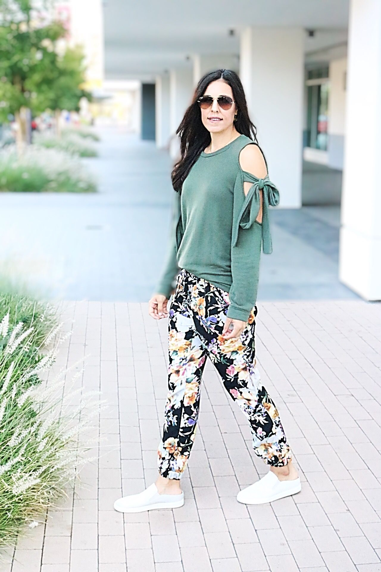 5b34b8d370dc4 Floral Joggers + Tips for Wearing Bold Prints