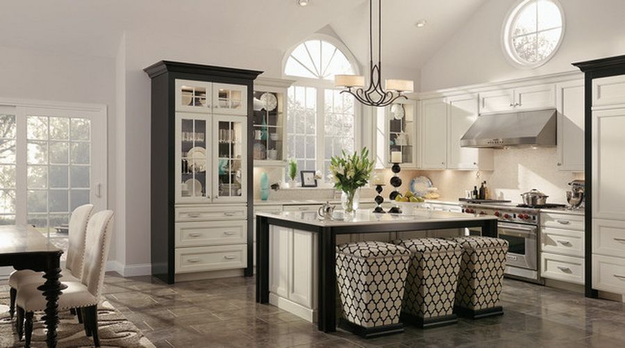 Best Luxurious Kitchen With White Cabinets Doors And Black 400 x 300