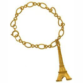 ".75 x 1.75"" Eiffel Tower Pendant on 7.5"" Bracelet, GPExclusive, USA! $6.99"