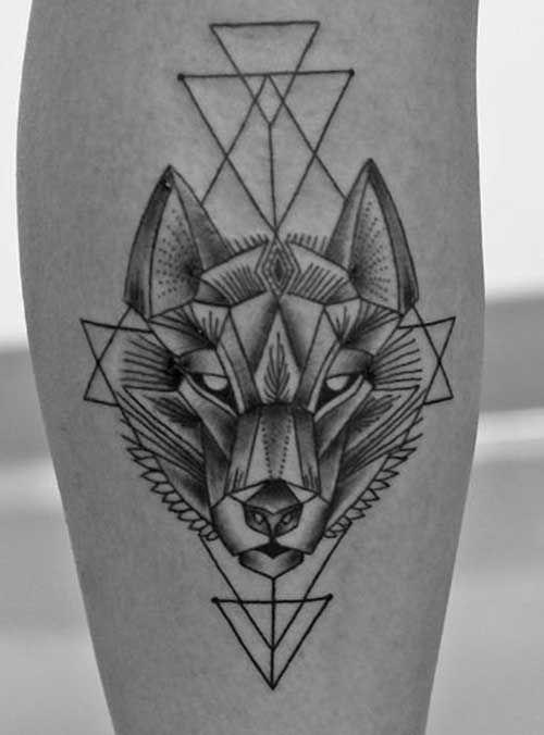 73 Awesome Geometric Tattoo Designs. geometric tattoo animal