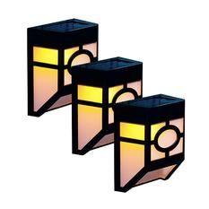 Leegoal Solar Deck Lights Wall Mount Waterproof Light Sensor Led Garden Light Lamp Outdoor Lightings For Fence Solar Deck Lights Deck Lights Led Garden Lights