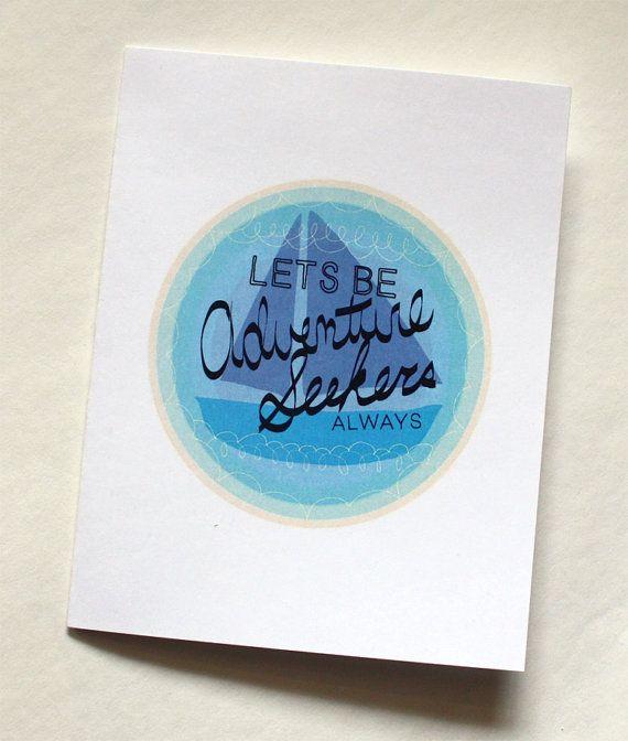 Love Card  lets be adventure seekers always by wanderandroar, $4.00
