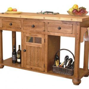 Sedona Rustic Oak Kitchen Island Table  Httpnilgostar Enchanting Rustic Kitchen Cart Decorating Inspiration