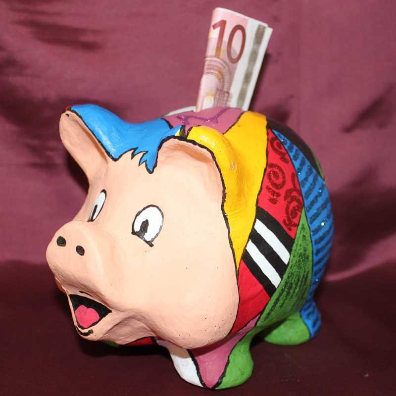 """PappArt Sparschwein (Idee mit Anleitung – Klick auf """"Besuchen""""!) - Dieses originelle Sparschweinchen eignet sich zum Verschenken von Geldgeschenken. Es kann ganz persönlich auf das Geburtstagskind zugeschnitten werden."""