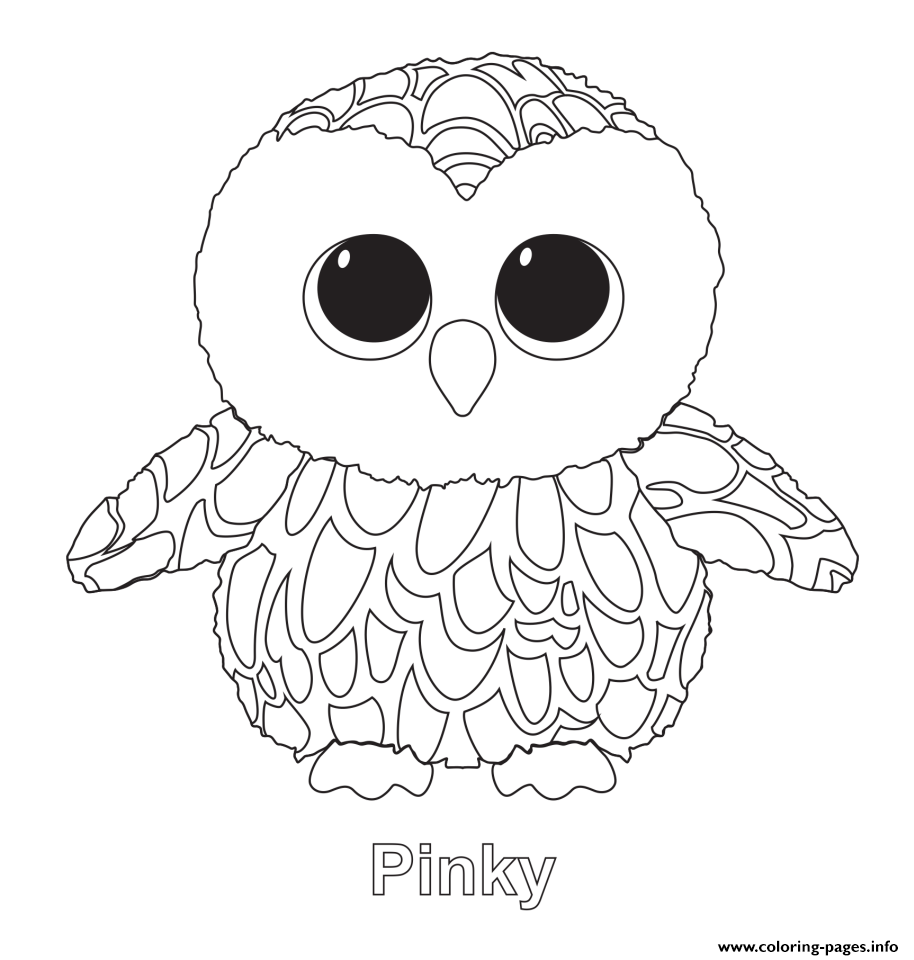 Pinky Beanie Boo Coloring Pages Owl Coloring Pages Beanie Boo Party Beanie Boo Birthdays