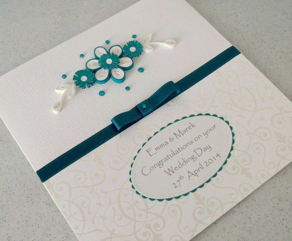 Paper Daisy Cards Quilled Wedding Card