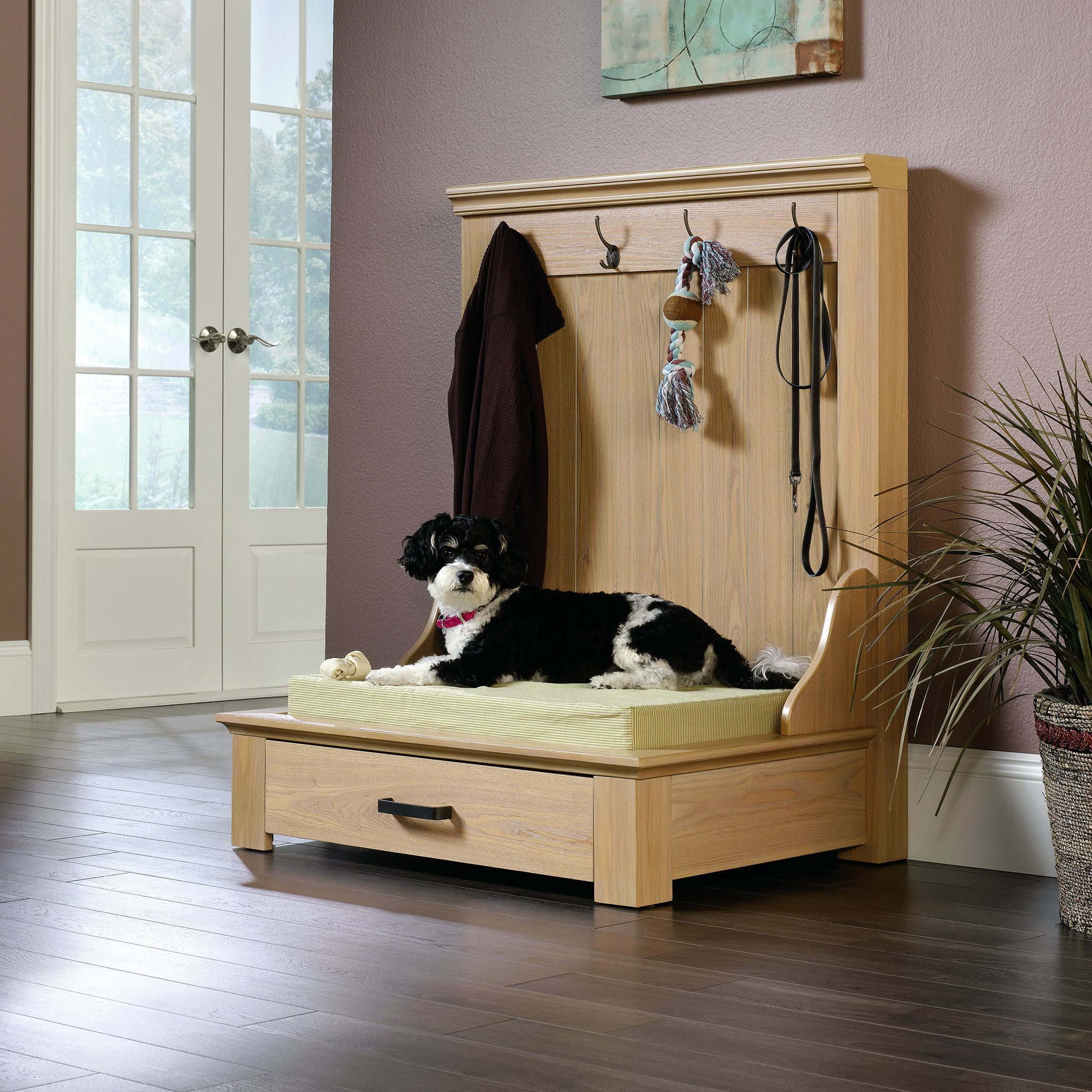 Bring Backdoor Clutter Under Control With The Entryway Dog Bed From Sauder Www