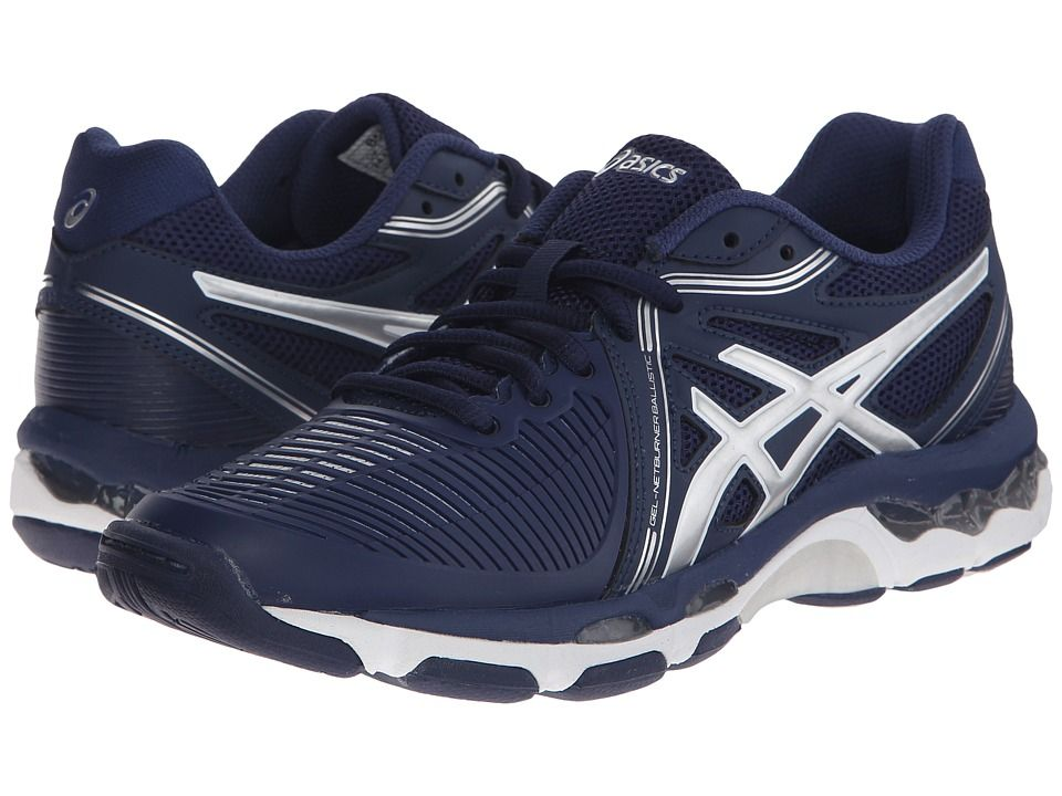 ASICS ASICS - GEL-NETBURNER BALLISTICTM (NAVY/SILVER) WOMEN'S VOLLEYBALL  SHOES.