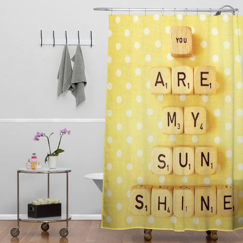 Deny Designs Happee Monkee You Are My Sunshine Polyesterrr Shower