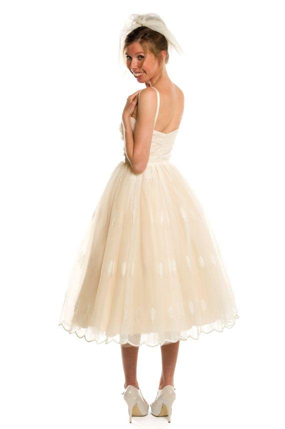 Short Wedding Dress Retro Style Tea Length Sample Short Wedding