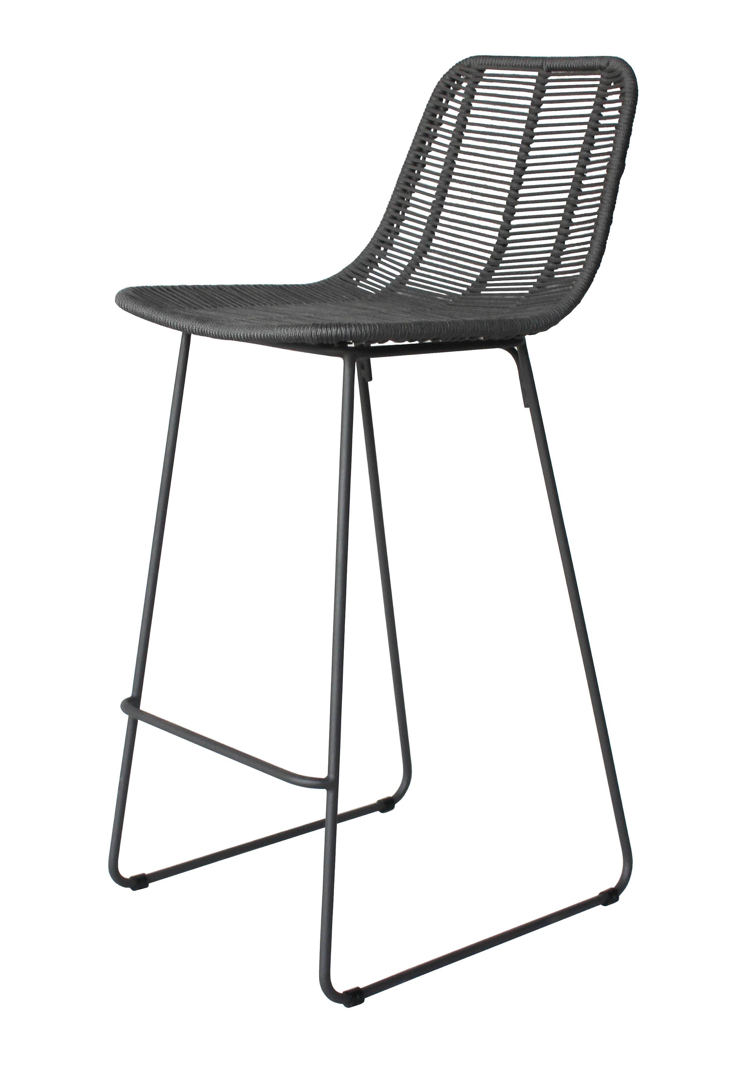 Enjoyable Kulu Rope Barstool Kitchen Ideas Outdoor Bar Stools Ibusinesslaw Wood Chair Design Ideas Ibusinesslaworg