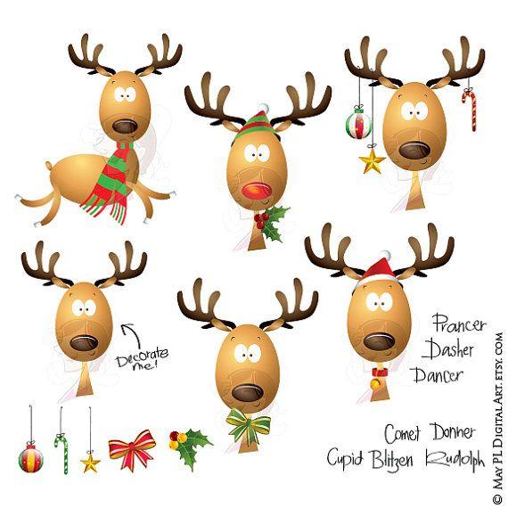 christmas clipart reindeer scrapbook teacher craft graphics rudolph rh pinterest ca December Clip Art for Teachers December Clip Art for Teachers