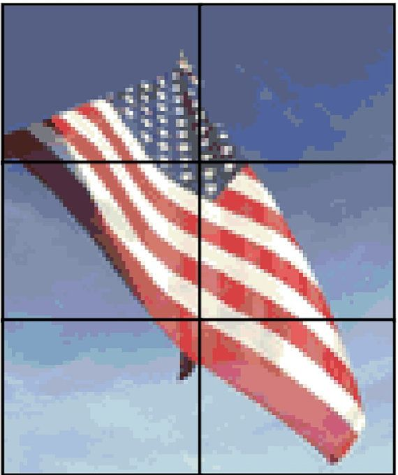 american flag counted cross stitch pattern downloadable product