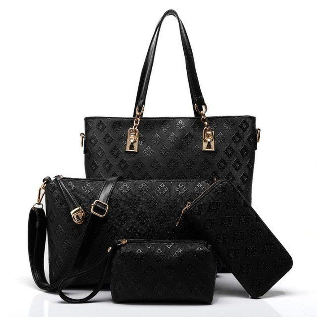 646beb5fa2 4pcs Set Small Messenger+Shoulder Bag+Wallet+Cosmetic Bag