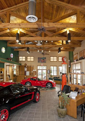 Timber Frame Trusses In Car Showroom From Texas Timber Frames 2 Luxury Garage Showroom
