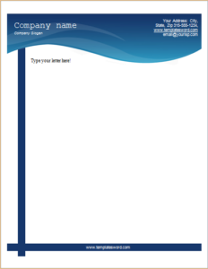 business blue bar letterhead download at letterhead templates