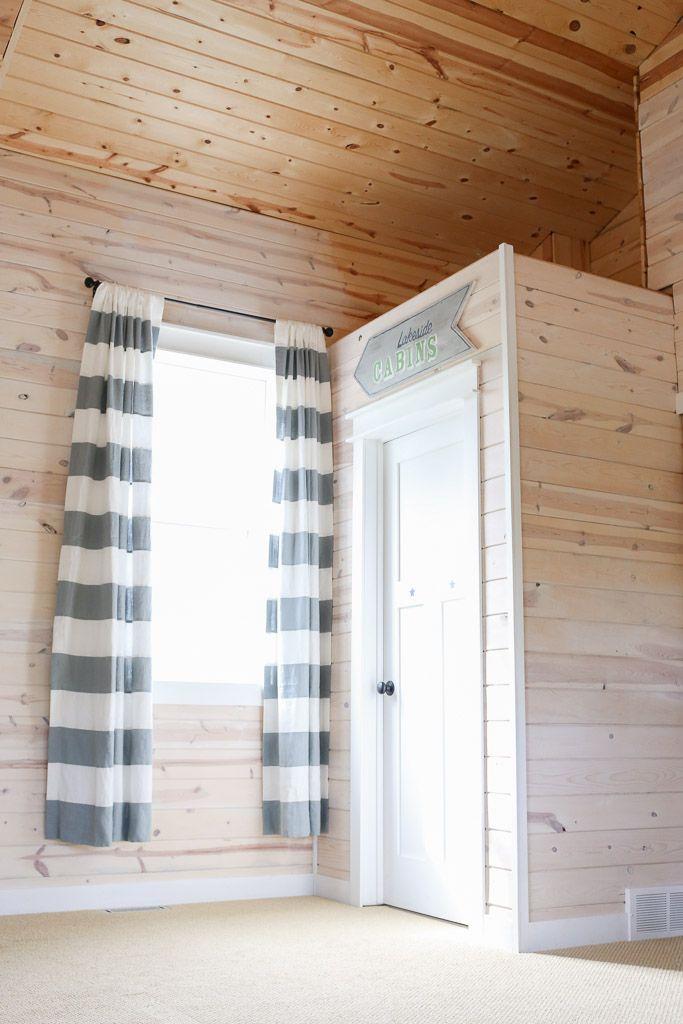 White Washed Pine Planke Walls White Trim This Mamas