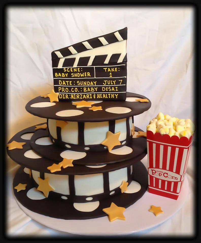 Hollywood Movie Reels A Star Is Born Baby Shower Cake Movie Night