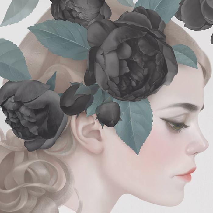 Capa de Roses, novo álbum da Coeur de Pirate, por Hsiao Ron Cheng.