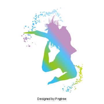 Youth Flying Vitality Dancing Dance Ink Watercolor Splash Posters Material Youthful Vector Silhouette Vector Da Girl Dancing Watercolor Splash Dance Silhouette
