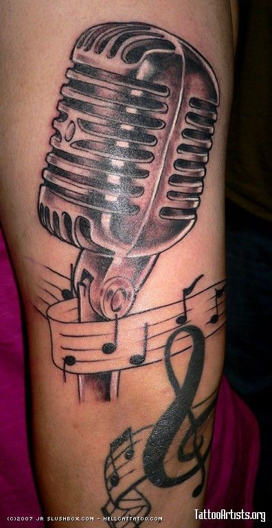 Pin by martina kubickova on rockabilly tattoo pinterest for Feminine music tattoos